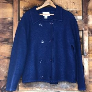 Vintage Tally Ho 100% Wool Cardigan